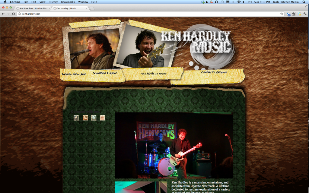 Website Design by Hatcher Media for Ken Hardley - Jamestown NY