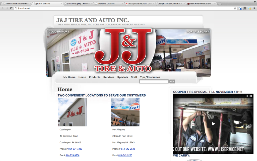 J and J Service - Port Allegany - Coudersport PA