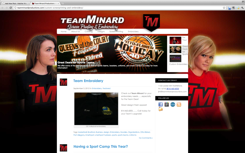 Team Minard Screen Printing Bradford PA