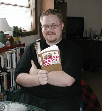 Here's my back in 2001 after the release of the book I co-authored - Cheap Ways To... published by Relevant Books