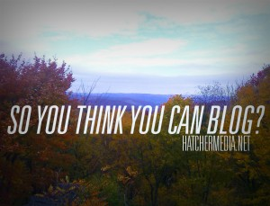 So you think you can blog